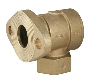Ford Meter Box 1-1/2 in. Meter Flanged x FIP Brass Single Angle Check Valve FHFA31NL
