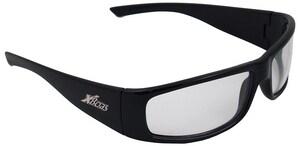 ERB Safety Boas Xtreme Silver Mirror Lens Black Frame Safety Glasses E17922