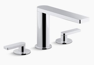 KOHLER Composed® Two Handle Widespread Bathroom Sink Faucet with Pop-Up in Polished Chrome K73060-4-CP