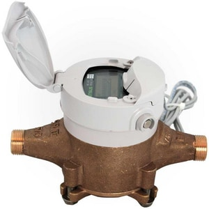 Sensus 5-3/8 x 3/4 x 5/8 in. Bronze and Synthetic Polymer Water Meter SS2PX338GGXXX1XX