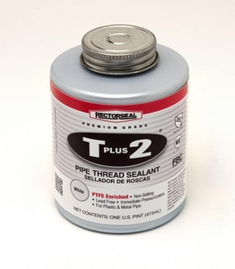 Rectorseal T Plus 2® 16 oz PVC White Pipe Joint Compound REC23431 at Pollardwater