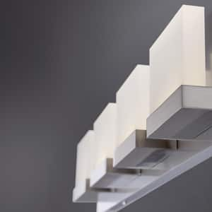 Eurofase Harmen 5W 4-Light LED Bath Bar Light in Satin Nickel E28025016