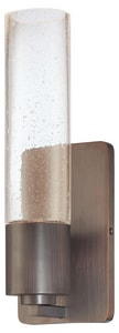 George Kovacs Light Rain 4-1/2 in. 1-Light Wall Sconce in Sable Bronze Patina KP970647