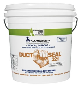 Hardcast Duct-Seal™ 321 1 gal. Indoor/Outdoor Water Based High Velocity Duct Seal Gray HAR304156