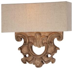 Minka Abbott Place 60 W 2-Light Candelabra Sconce in Oak Patina M5200290