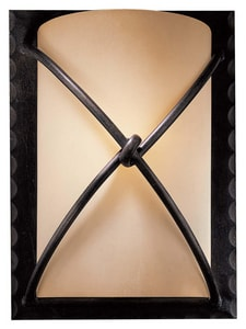 Minka Aspen™ II 1-Light Wall Sconce in Aspen Bronze with Rustic Scavo Glass Shade M1972138