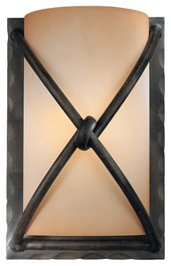 Minka Aspen™ II 1-Light Wall Sconce in Aspen Bronze with Rust Scavo Glass Shade M19741138
