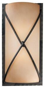 Minka Aspen™ II 2-Light Wall Sconce in Aspen Bronze with Rust Scavo Glass Shade M19751138