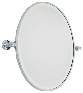 Minka-Lavery 24-1/2 x 19-1/2 in. Oval Pivoting Mirror in Polished Chrome M143177