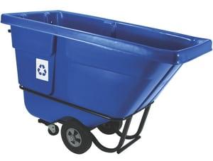 Rubbermaid 60-1/2 in. 850 lbs. Standard Duty Recycling Tilt Truck in Blue RFG130573BLUE