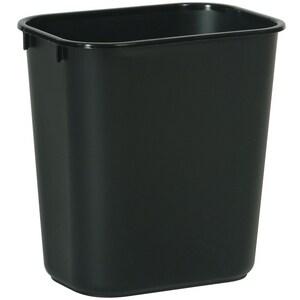 Rubbermaid 13-5/8 qt Waste Basket in Black RFG295500BLA