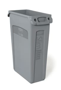 Rubbermaid Slim Jim® 23 gal Container with Vent Channel in Grey RFG354060GRAY