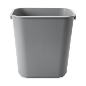 Rubbermaid 13-5/8 qt Waste Basket in Grey RFG295500GRAY