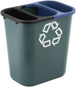 Rubbermaid 13-5/8 qt Wastebasket Recycling Side Bin in Blue RFG295073BLUE