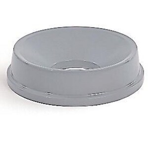 Rubbermaid Untouchable® Round Funnel Top for Container in Grey RFG354800GRAY