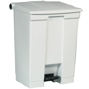 Rubbermaid 18 gal Step-On Trash Container in White RFG614500
