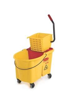 Rubbermaid WaveBrake® Combo Side Press Bucket in Yellow RFG618688YEL