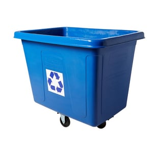Rubbermaid 43-13/16 in. 500 lbs. Recycling Cube Truck in Blue RFG461673BLUE