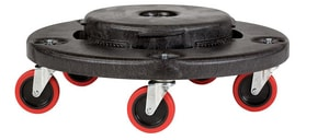 Rubbermaid Brute® 20 - 55 gal Quiet Dolly Container in Black RFG264043BLA