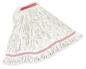Rubbermaid Swinger Loop® 1 in. Headband Heavy Duty Large Shrinkless Wet Mop in White RFGC21306WH00