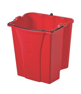 Rubbermaid WaveBrake® 26 qt Dirty Water Bucket in Red RFG9C7400RED at Pollardwater