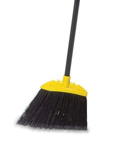 Rubbermaid 54-1/2 in. Jumbo Polypropylene Sweep Lobby Angle Broom in Black RFG638906BLA