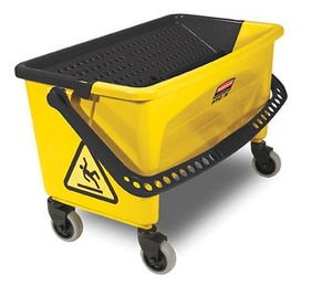 Rubbermaid Microfiber Press Wring Bucket in Yellow RFGQ90088YEL