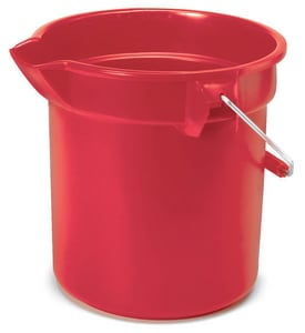 Rubbermaid Brute® 14 qt Round Bucket in Red RFG261400RED