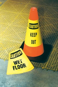 Accuform Signs Cone Cuff™ 28 in. Sleeve Caution Wet Floor AFBC923E at Pollardwater