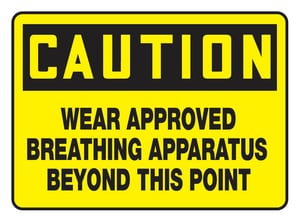 10 X 14 Plastic SIGN CAUTION AMPPE767VS at Pollardwater