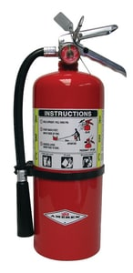 Amerex ABC Dry Chemical Extinguisher 10 lbs. with Bracket AB456 at Pollardwater