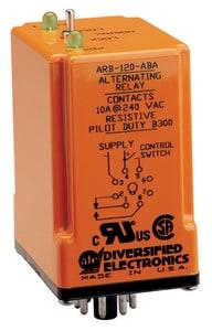 Duplex Alternating Relay Duty Cycle 120 VAC (3) Relays SPDT N/O 10 amp AARB120ABA at Pollardwater