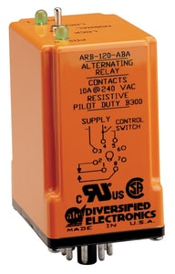 Duplex Alternating Relay Duty Cycle 120 VAC (3) Relays SPDT N/O 10 amp AARB120ABA at Pollardwater