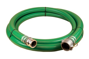 3 in. x 20 ft. PVC Suction Hose MxF Quick Connects A1240300020CE at Pollardwater