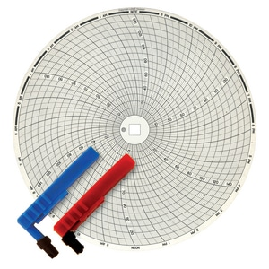 Graphic Controls LLC 10 in. Dia. 0-250 Chart Paper 100/BX G30784733 at Pollardwater