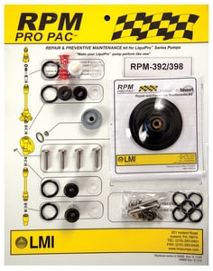 LMI LMI PVDF, Polyprel, PTFE, FKM and Ceramic RPM Kit for Excel XR Series Metering Pumps LRPM54771 at Pollardwater