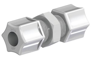 United States Plastic 3/8 x 1/4 in. Tube x FNPT Reducing PVDF Coupling U61266 at Pollardwater