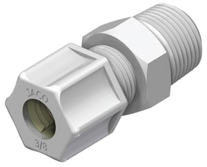 1/4 x 3/8 in. Tube x MNPT Reducing Polypropylene Compression Connector J1046PO at Pollardwater