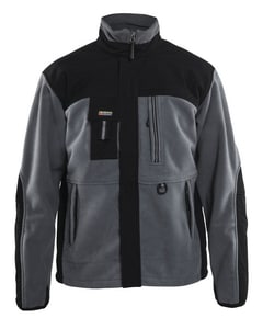 Blaklader Two Fisted Fleece Jacket Black/Grey Medium B485525209499M at Pollardwater