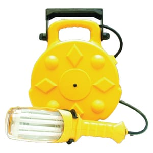 26W Fluorescent Work Light with Single Outlet in Yellow BSL8908