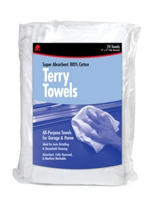 Buffalo Industries White Terry Cloth Towel Bag 24-Pack BUF60221 at Pollardwater