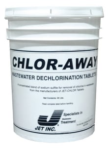 Jet Chlor-Away® 45 lb. Dechlorination Tablet 144 Pack JET170 at Pollardwater
