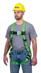 Miller Fall Protection Vinyl-Coated Harness with Back D-Ring Mating Chest Strap Buckle and Tounge Buckle Leg Straps Universal Size MRPCTBUGN at Pollardwater