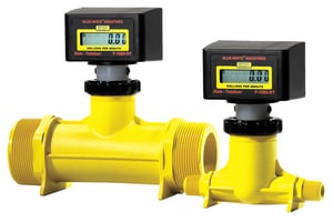 Blue-White® 1 in. MNPT T-Mount Rate/Total Flowmeter 5-50 gpm BRT100MIGPM1 at Pollardwater