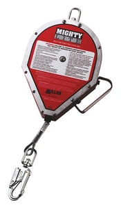 Miller Fall Protection Self-Retracting Lifeline 50 ft. Webbing with Tagline and Carabiner MRL50P50FT at Pollardwater