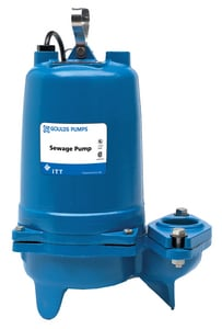 Goulds Pumps 3887 Series 2 in. 1-1/2 hp Submersible Sewage Pump GWS1512BHF at Pollardwater