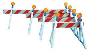 8 ft. x 8 in. Traffic Barricade T44008ES2