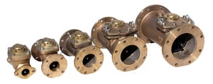 Zenner Model PMCB 2 in. Flanged 400 gpm Bronze Compound Meter - US Gallons ZPMCBUS