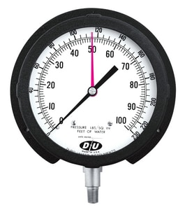 Thuemling Industrial Products 6 in. 160 psi Altitude Gauge for Thuemling Industrial Products Model 102 Water Level Meters T61325511