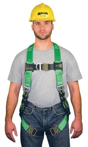 Miller Fall Protection Harness with Back D-Ring Quick Connect Chest and Leg Strap Buckles 2XL MP950QCXXLGN